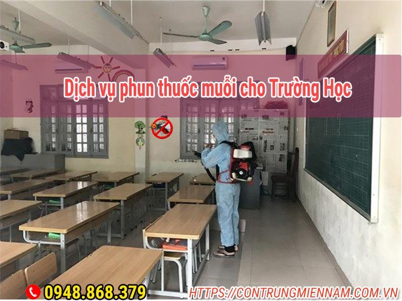 Dịch vụ phun thuốc muỗi cho trường học