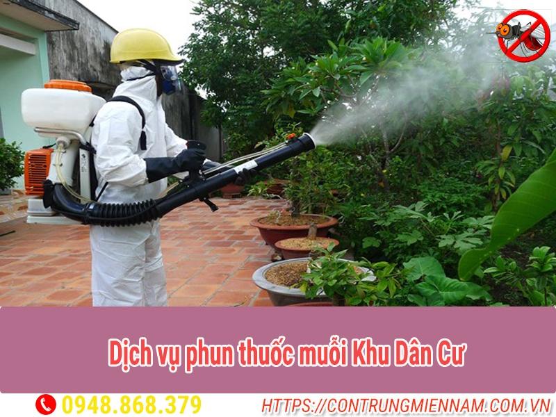 dịch vụ phun thuốc muỗi khu dân cư