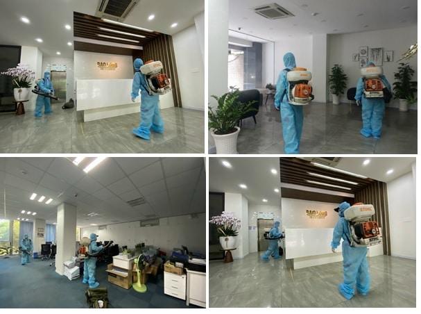 phun khử khuẩn văn phòng công ty